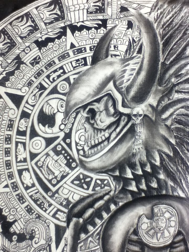 Aztec Warrior Art | Aztec Warrior by ~OmarRaya407 on deviantART