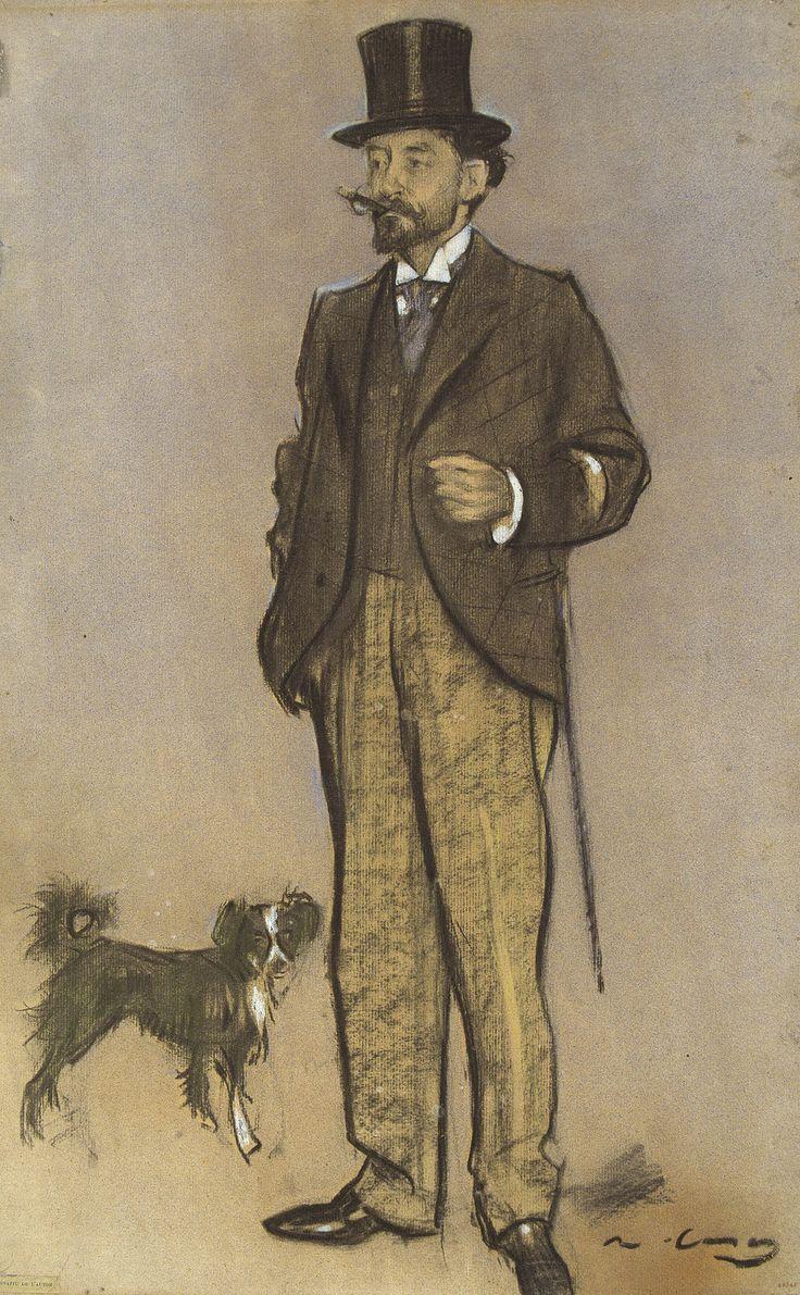 Lluís Figuerola by Ramon Casas i Carbó (Catalan/Spanish 1866-1932)