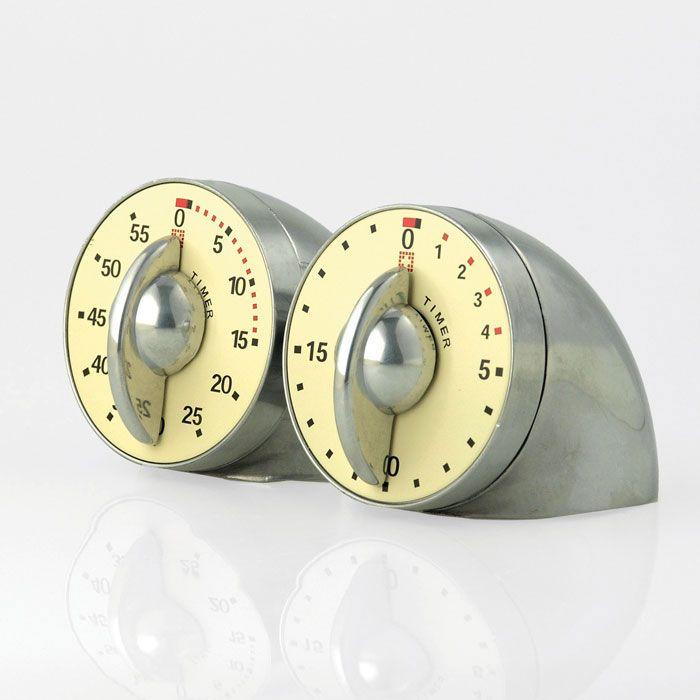 Nice Retro Double Timer Aluminium. 60 min, 20 min., Bengt Ek Design. Read more at RoyalDesign.com $66