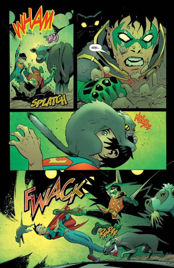 This Just Happened: Jon Kent Gut Punches Damian Wayne! | DC
