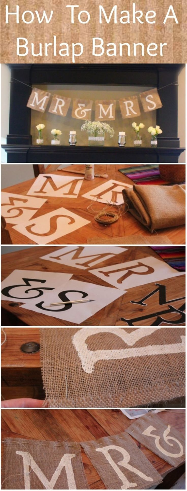 How To Make A Mr. & Mrs. Burlap Banner