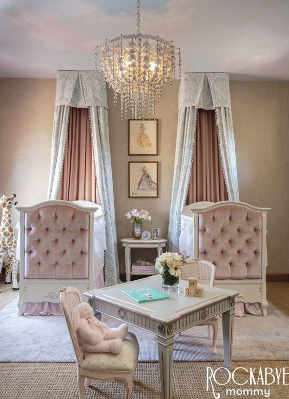 Habitaciones clásicas de Princesas para bebés. Habitaciones de princesas de estilo clásico contemporáneo, elegantes. Fotografías, inspiración.