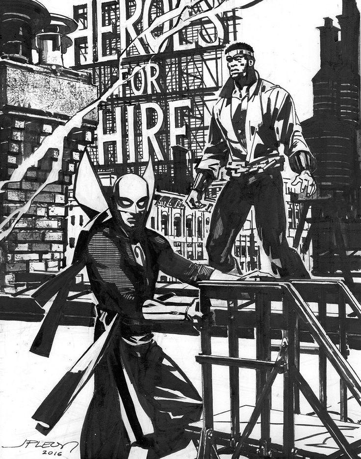 "John Paul Leon no Twitter: ""Power man and Iron fist WIP to finish…"