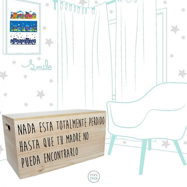 Baúl de madera para dar un toque especial a la habitación infantil y mantener los juguetes de los peques ordenados - Minimoi