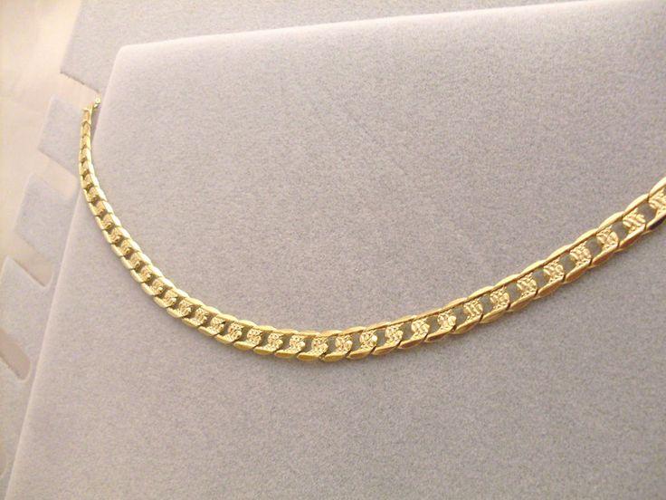 Collana Oro Giallo Girocollo Elegante Double Face Unisex Catenina Uomo Donna