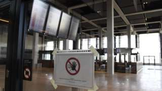 Check-in area at unopened Berlin-Brandenburg airport