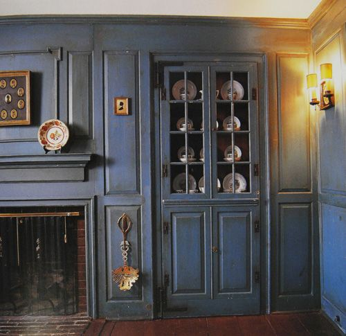 Repro early american built ins furniture pottery custom for Early american house styles