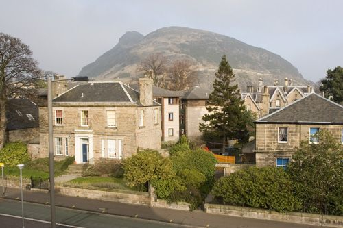 The view from my window of Arthur's seat- always best on a clear day.