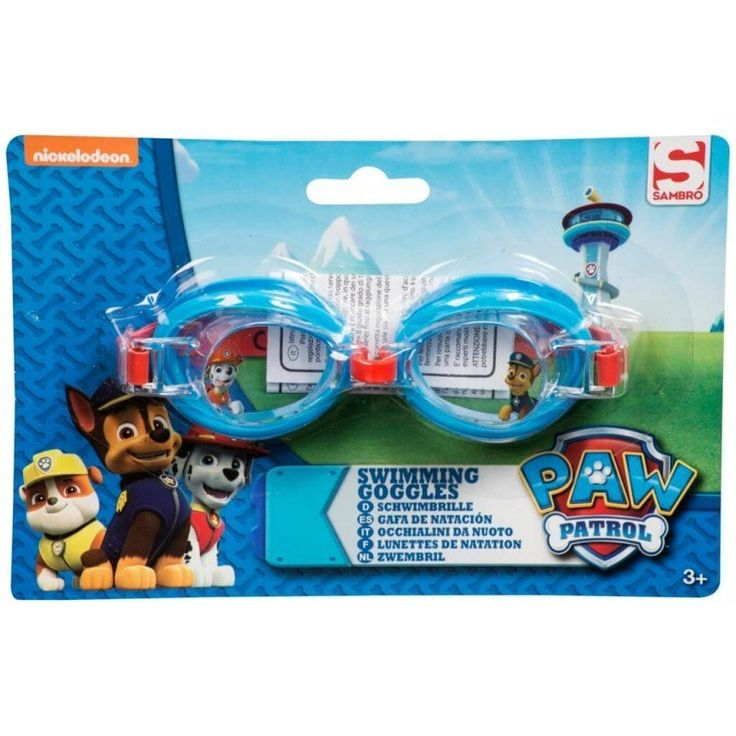 Official Paw Patrol kids boy's and girl's swimming goggles fully adjustable great for swimming lessons or holiday.Size: one size, fits most children Sutible for children 3 years and over