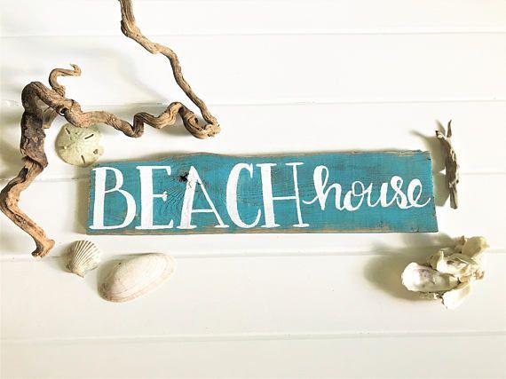 Beach House Sign  Beach Decor  Nautical Signs  Coastal Chic