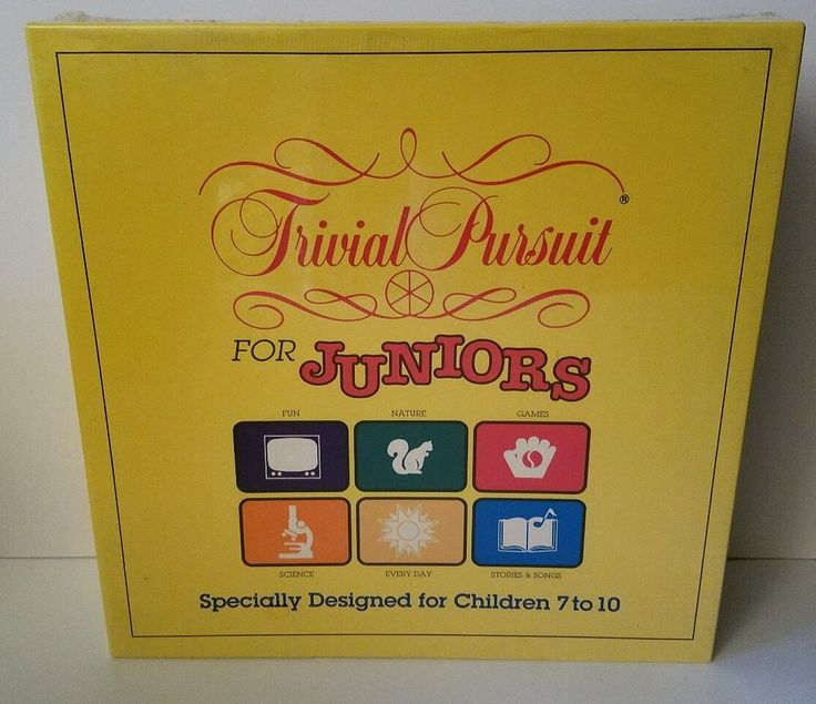 Trivial Pursuit for Juniors 1990 SEALED No. 6250 #ParkerBrothers