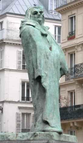 Auguste Rodin : Balzac, Boulevard Raspail and Boulevard Montparnasse, Paris.