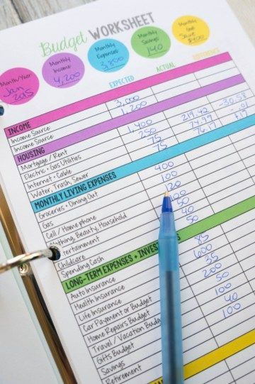 9 best Budget Binder images on Pinterest Printable budget sheets