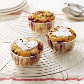 Pear, Raspberry and Choc Chip Muffins