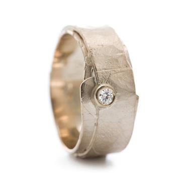 Anneau en or avec diamant   Wim Meeussen Orfèvre Anvers