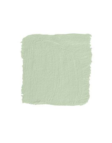 """Slow Green  """"This soft pale green is a little unexpected in a bedroom, but also very soothing and serene. It makes a nice backdrop for dreaming. Putting it on one wall was enough. It gave the room a focus. It looks so fresh, surrounded by white and with that beautiful glass door to the bath."""" -MICHAEL RICHMAN SHERWIN-WILLIAMS SLOW GREEN SW 6456"""