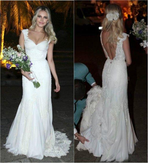 Louise D'Tuani se casa com Eduardo Sterblitch no Rio de Janeiro (Foto: Isac Luz/Ego e Ag.News)