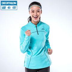 Decathlon спортивная женская пальто с длинными рукавами футболки спортивный свитер плюс теплый бархат бег трусцой костюмы KALENJI