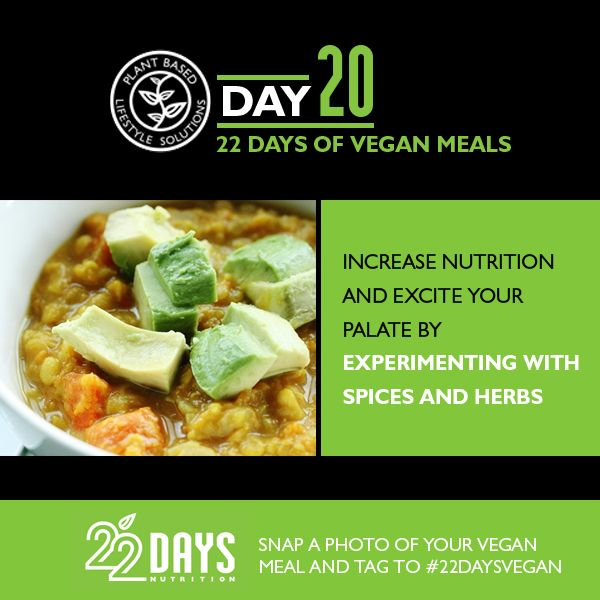 Day 20: 22 Days of Vegan Meals Meal plan and recipes by Gena Hamshaw, certified clinical nutritionist and author of Choosing Raw Breakfast Smoothie of 1 cup fro