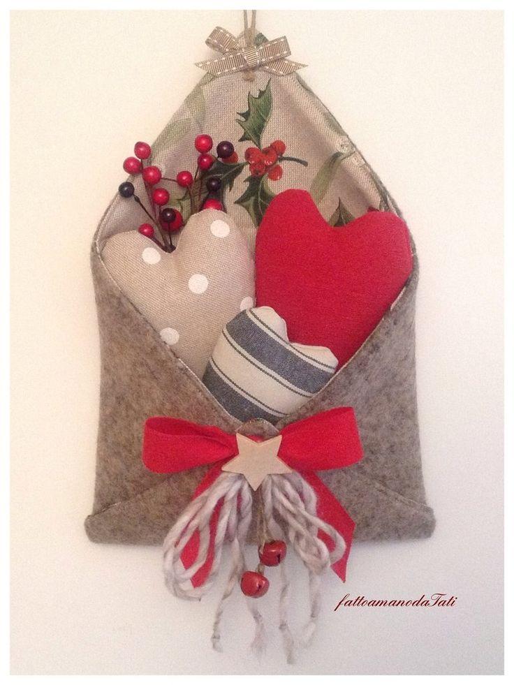Busta love letters in lana cotta con tre cuori imbottiti, by fattoamanodaTati, 26,00 € su misshobby.com