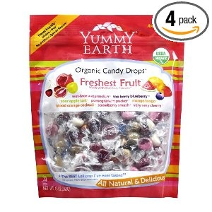 Yummy Earth Organic Candy Drops  NOTE Lollypops are NOT safe - reactions to drops also reported