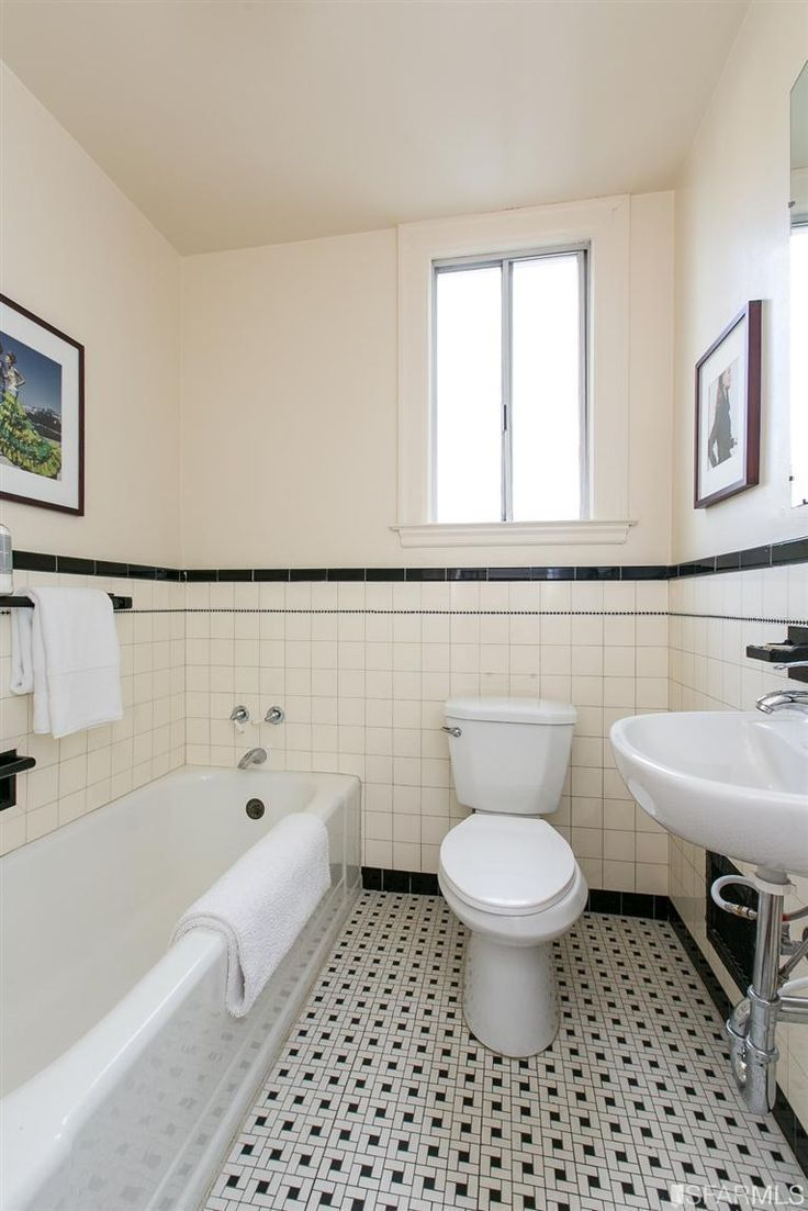 San Francisco Ca 1930s Bathrooms White Bathroom Tiles
