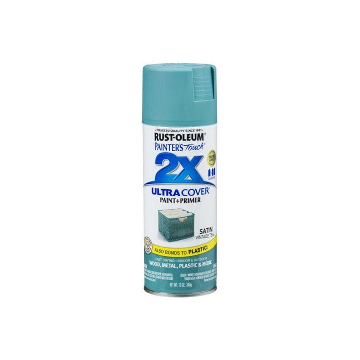 Rust-Oleum 316292 Painter's Touch Satin 2x Paint+Primer Enamel Spray, Satin, Vintage Teal, 12 Oz