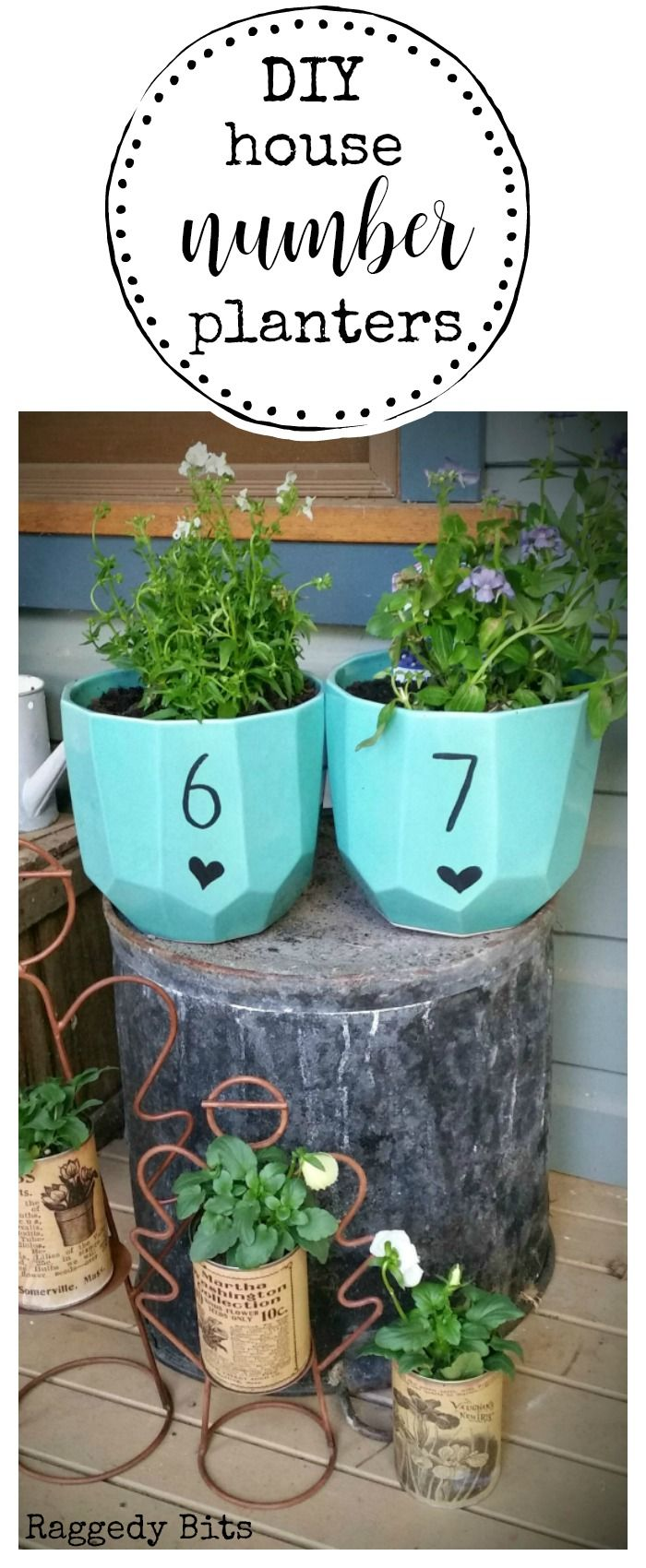Sharing a fun set of DIY House Number Planters that you can make. If you love just pottering around in the garden as much as I do this is a project for you.