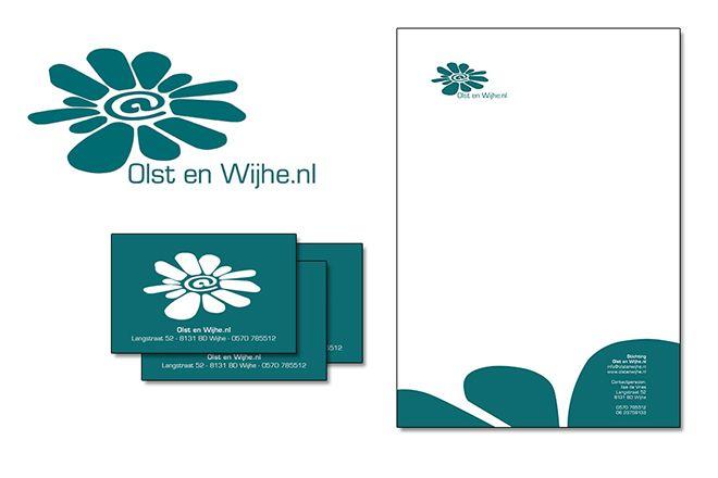 Mooie ontwerp - nu nog een drukkerij zoeken? Bestel zakelijke briefpapier via drukwerk website Flyersonline.nl  Bron: Studio Ilse