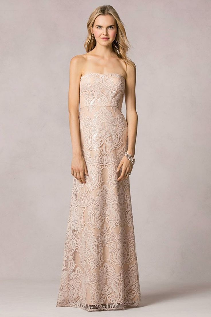 Get the look taylor swift 39 s blush gold reem acra maid for Blush and gold wedding dress
