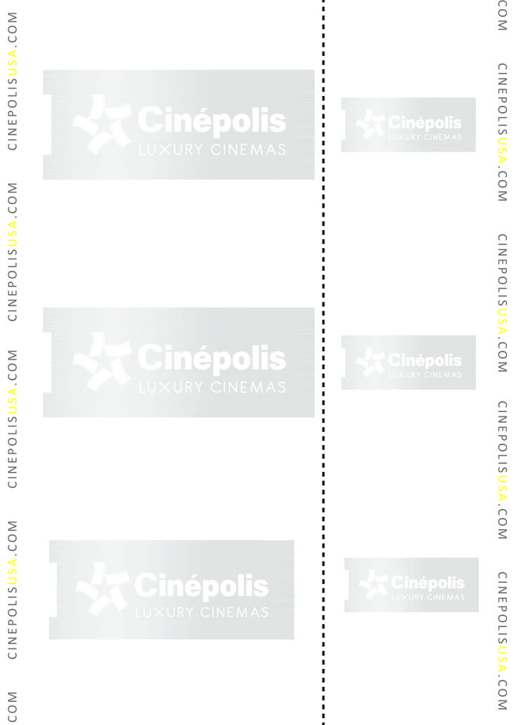 POS Supply has perforated heavy-weight paper stock that is commonly used for tickets such as this movie theater customer.  This is a good example of how to use the FRONT to subtly weave your brand into the background of your printed receipts.This is a great professional way to keep your brand in front of your customers - even days and weeks later.