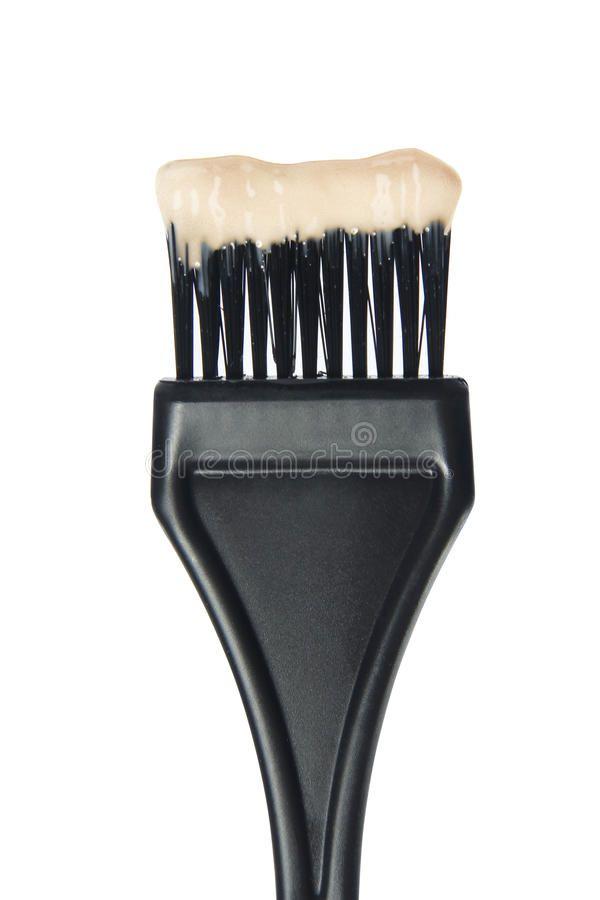 Hair Dye Brush Black Plastic Hair Dye Brush Isolated On White Background Ad Brush Black Hair Dye Plasti In 2020 Hair Dye Brush Dyed Hair Hair Color Brush