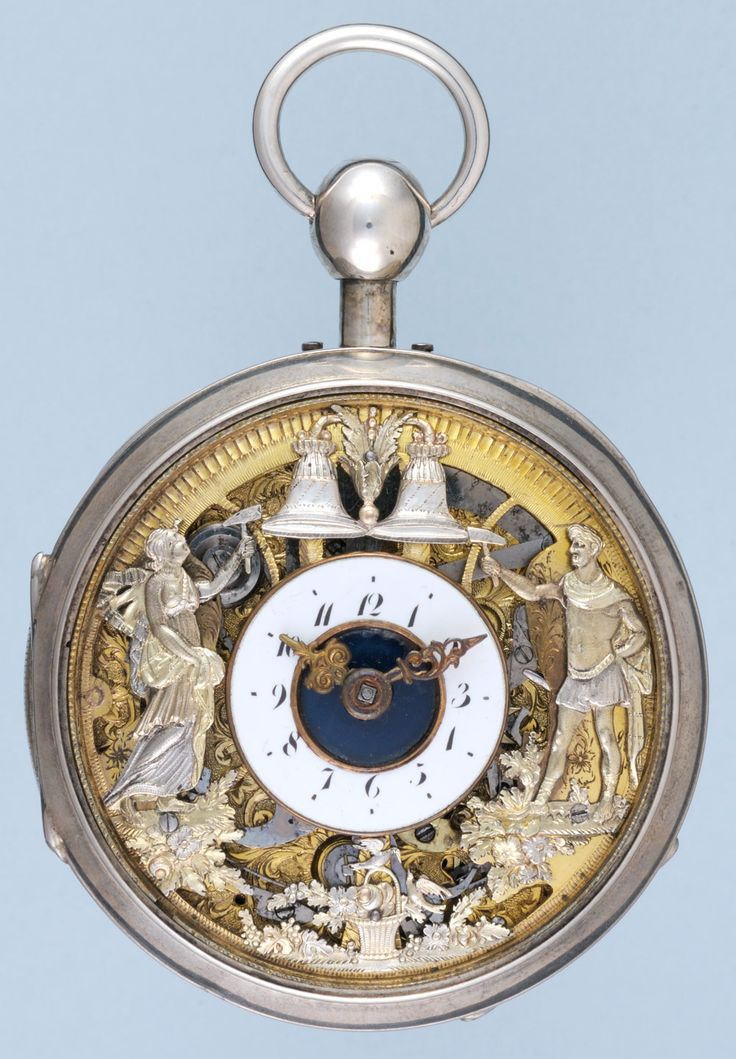 Antique Watches - Skeletonised Swiss Quarter Repeating Automaton ( simply beautiful and a pleasure to watch the complex movement operating so many mechanical parts of the horology masterpiece pocket watch ❤