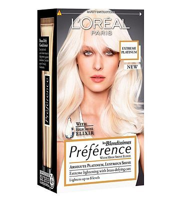Loreal  Preference Les Blondissimes Extreme 28 Advantage card points. Introducing new Extreme Platinum from Prfrence. Reveal your inner blonde goddess with our new generation of supreme lightening technology, with up to 8 levels of lift. FREE D http://www.MightGet.com/april-2017-1/loreal-preference-les-blondissimes-extreme.asp