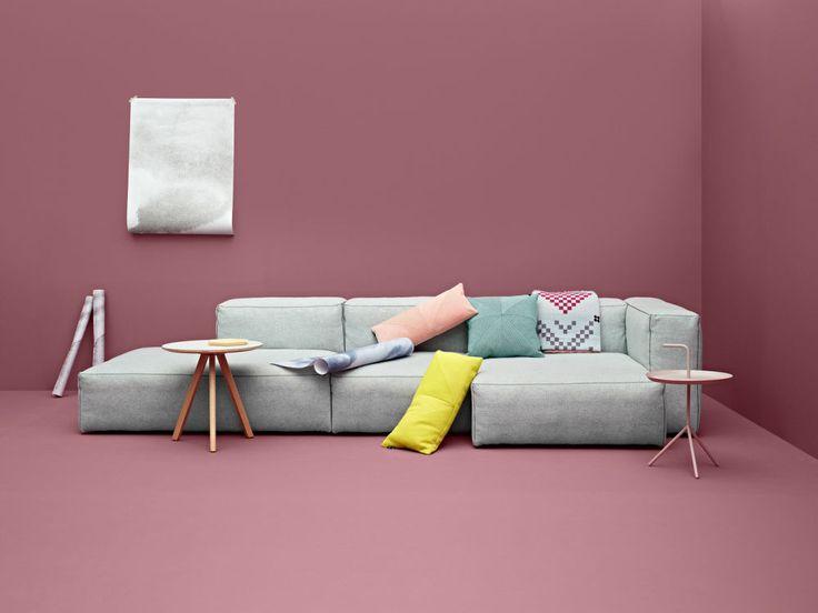 Canapé modulable / contemporain / en cuir MAGS SOFT Hay a/s