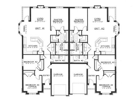 Apartment Building Blueprints 44 best duplex plan images on pinterest | duplex house plans, curb