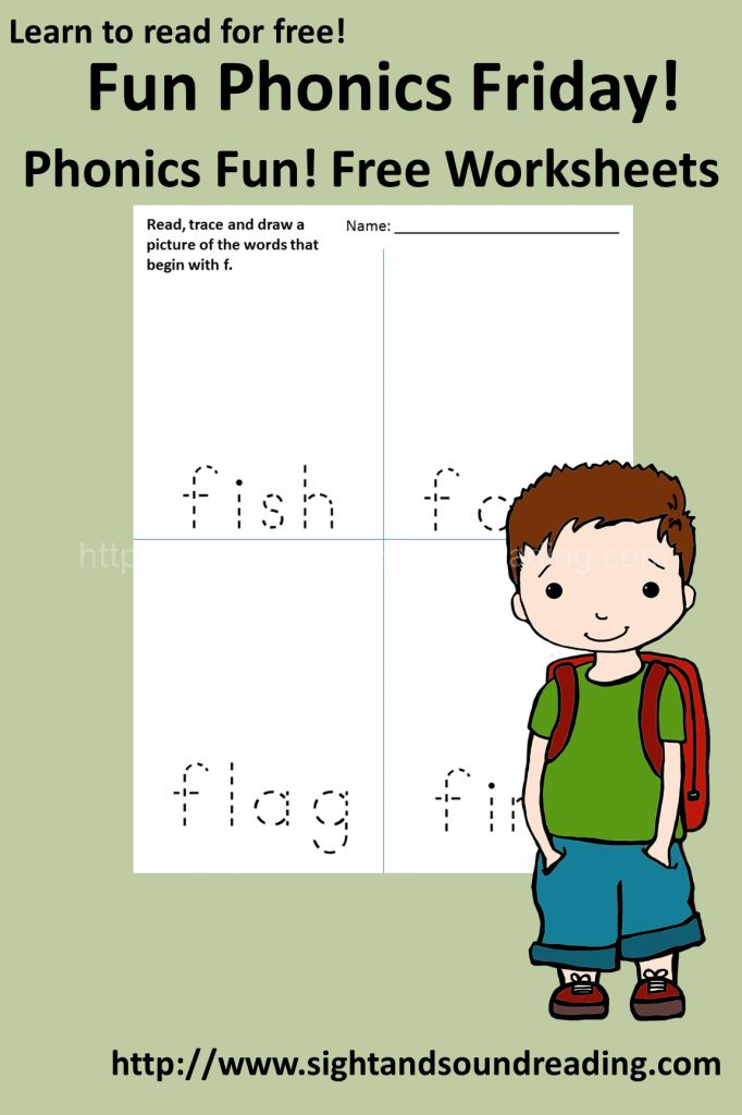 Learn to read!  Free Phonics Worksheets:  The Letter F.  More #free resources for teaching #phonics can be found at http://www.sightandsoundreading.com  #kindergarten
