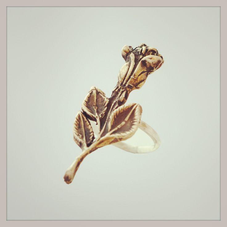 Handmade! Bronze/sterling silver Ring. www.kaczdesigns.com