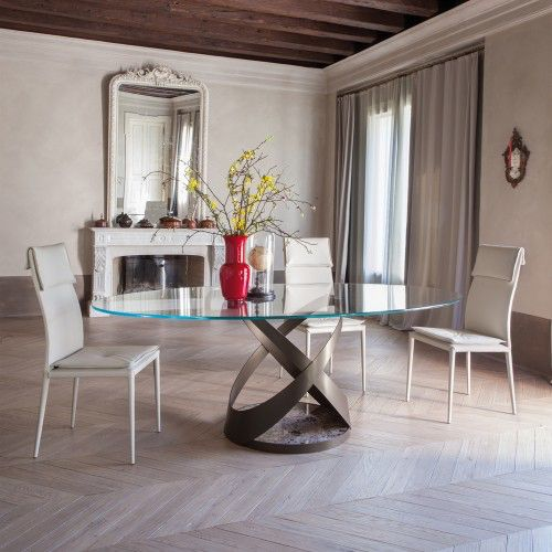 CAPRI OVAL DINING TABLE Both Delicate And #modern, The Capri #Table From  Tonin