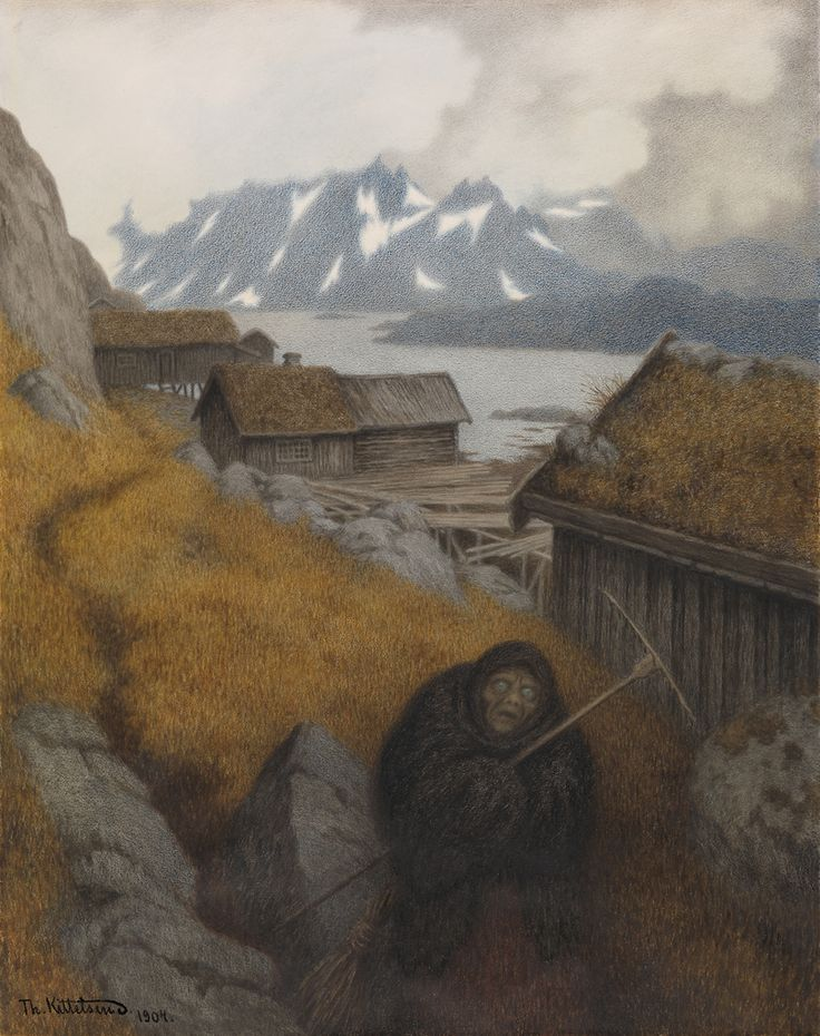 Theodor Kittelsen - She covers the whole country, 1904