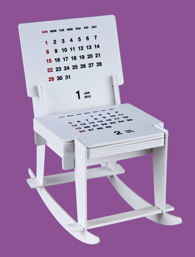 Rocking Chair Sculpture Calendar 2012