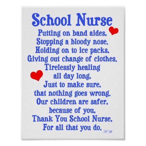School Nurse Poster | Funny, Christmas poems and Nurses