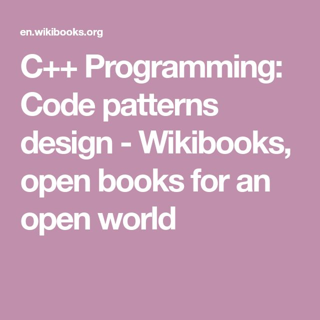 C Programming Code Patterns Design Wikibooks Open Books For