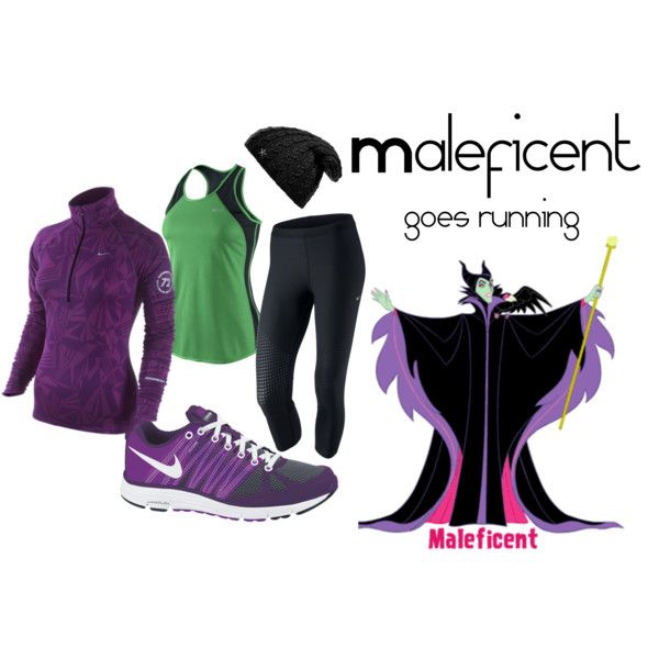 """Maleficent running outfit for Disney race - I like the idea that this one is still a """"sensible"""" outfit for running or walking."""