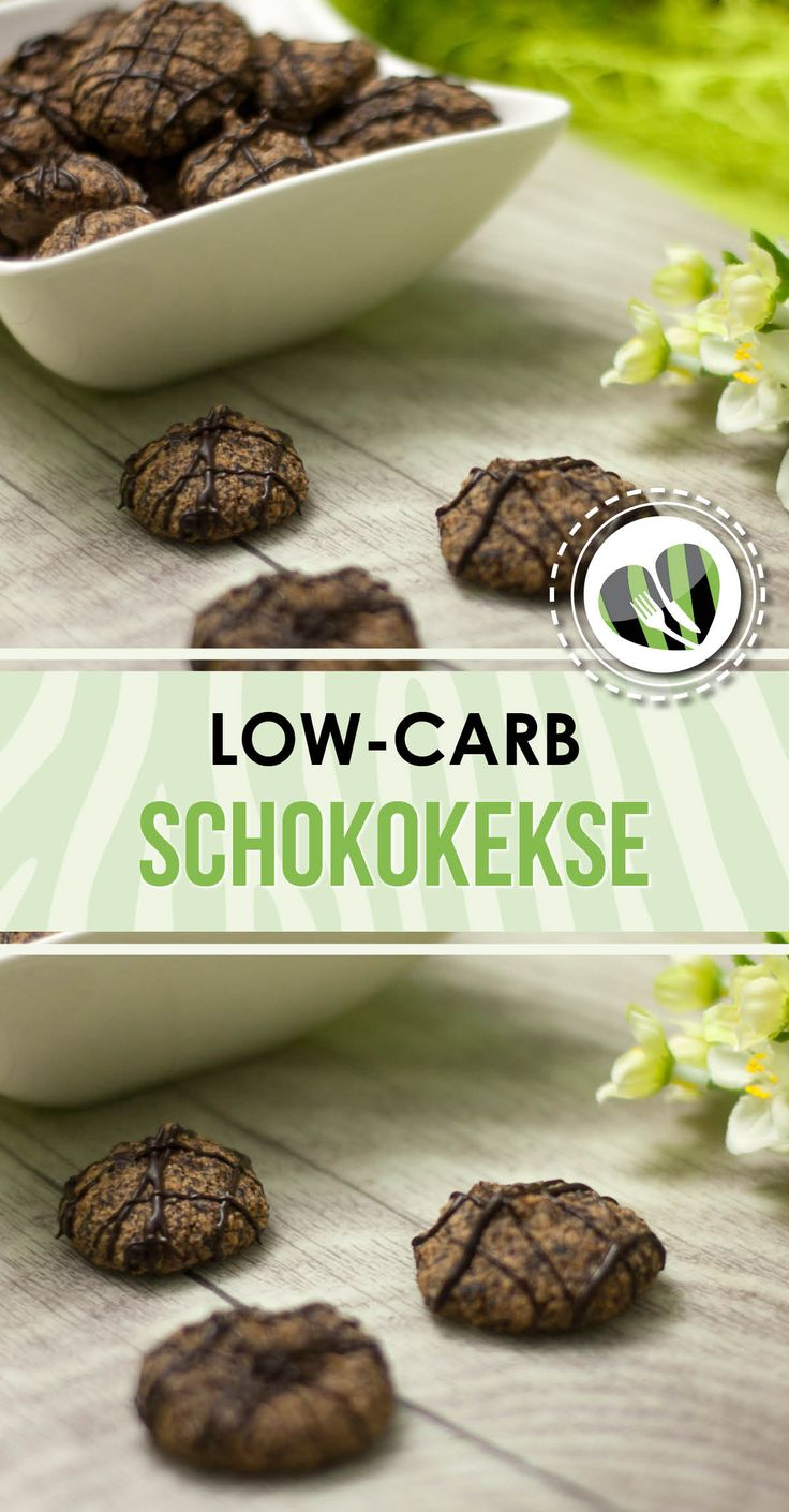 Die Schokokekse sind einfach, lecker und low-carb.