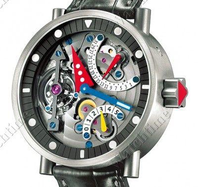 Alain Silberstein   Tourbillon Black Arrow   Titanium   Watch database watchtime.com