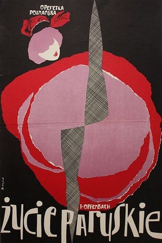 La Vie Parisiene, Opera poster by Zbigniew Kaja, 1960.