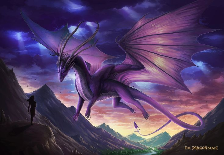 Another rare example of dragon art I like that has humans in it. (The Dragon Scale by JoJoesArt.deviantart.com on @DeviantArt)