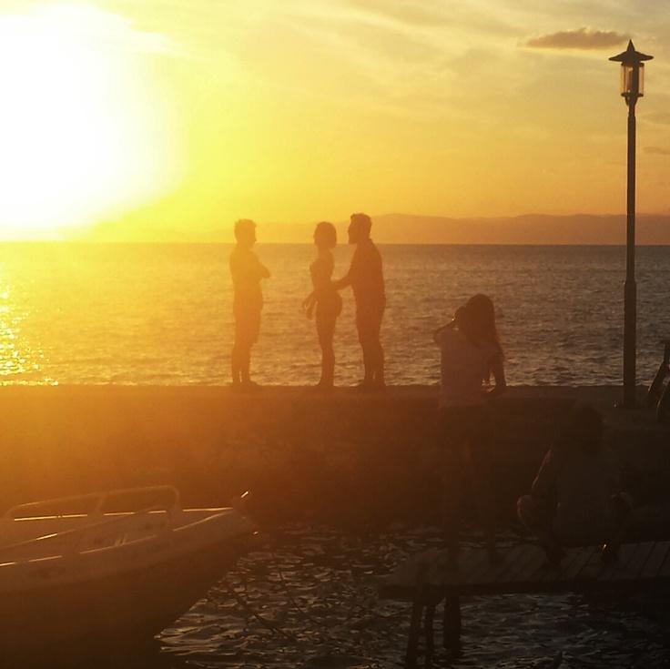 Sunset in Thasos Town