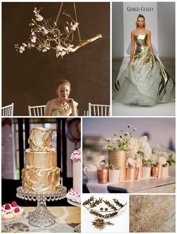 metallic wedding | Metallic Gold Wedding Themes Exclusively Weddings Pictures